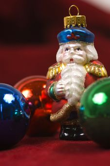 Free Christmas Ornaments- Crystal Santa Claus Stock Image - 1170911
