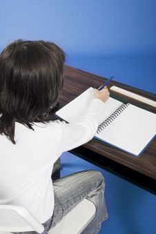 Free Little Girl Sitting On Chair In Classroom Royalty Free Stock Photography - 1171077