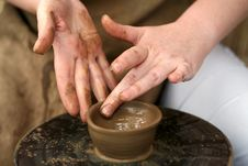 Potter S Hands Royalty Free Stock Photography