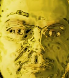 Golden Face Stock Images