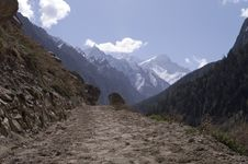 Valley Of Bhagirathi, View To Gomukh Royalty Free Stock Images