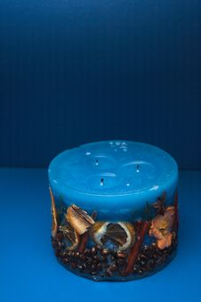 Free Blue Candle Royalty Free Stock Photos - 1174168