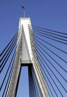 Anzac Bridge Royalty Free Stock Photo