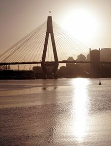 Free Anzac Bridge In Evening Light Royalty Free Stock Photography - 1175797