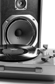 Free Speaker And Record Player Royalty Free Stock Photos - 1175968
