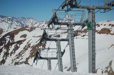 Free Skilift On Glacier Stock Photography - 1177892
