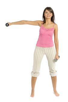 Sport Dressed Training Woman Stock Photo