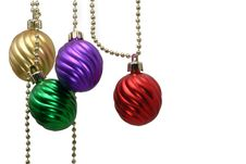 Free Decorative Christmas Balls Royalty Free Stock Photos - 1178958