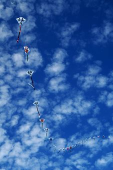 Flying Kites Royalty Free Stock Photography