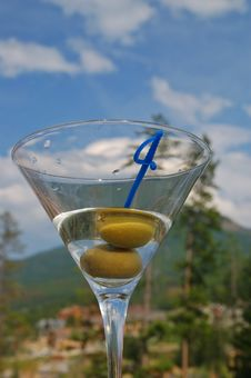 Martini Against The Sky Royalty Free Stock Image