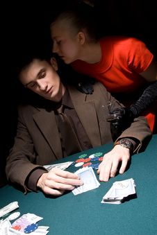 Free Couple Of Gamblers Stock Images - 11715614