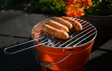 Free Charcoal Grill With Sausage Stock Photos - 117112303