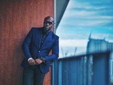 Free Men S Blue Formal Suit Jacket Stock Photo - 117112430
