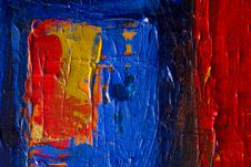 Free Red And Blue Abstract Painting Royalty Free Stock Image - 117112466