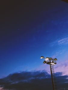 Free Light Tower Under Blue Cloudy Skies Stock Images - 117112494
