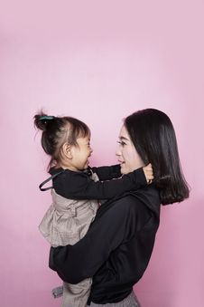 Free Woman And Children Taking Photo Stock Image - 117112591