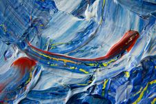 Free Blue, Yellow, And Red Abstract Painting Stock Image - 117112661