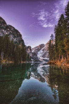 Free Mountain And Trees Reflection Stock Image - 117112741