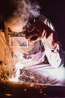 Free Photo Of Person Wearing Welding Mask Stock Photography - 117112812