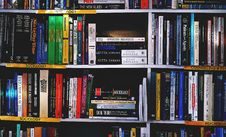 Free Photography Of Books On Bookshelf Stock Image - 117112841