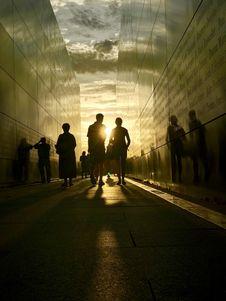 Free Silhouette Of People Walking Royalty Free Stock Image - 117352636