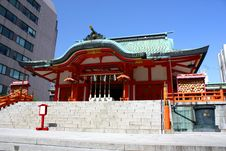 Free Tokyo Shrine And Offices Royalty Free Stock Photo - 11745155