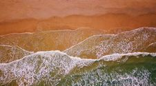 Free Aerial Photography Of Flow Of Water Near Sand Stock Images - 117420904