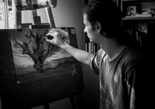Free Grayscale Photography Of Man Painting A Tree Royalty Free Stock Image - 117420986