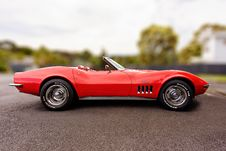 Free Red Corvette C3 Convertible Coupe Scale Model Royalty Free Stock Photography - 117486277