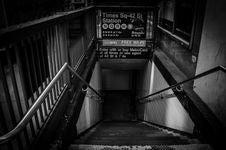 Free Underground Subway Staircase Stock Image - 117486291