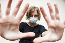 Free Woman With Medical Mask Royalty Free Stock Photo - 11757135