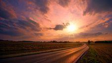 Free Asphalt Road During Sunset Stock Photography - 117536862
