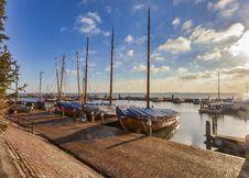 Free Boats Near Dock Under Gray Sky Stock Image - 117608581