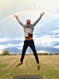 Free Sky, Jumping, Fun, Male Stock Photography - 117729112