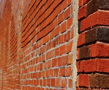 Free A Antique Red Brick Wall Showing The Old Concrete In A Blur Royalty Free Stock Images - 117757299