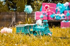Free Teal Train Toy Royalty Free Stock Images - 117767929
