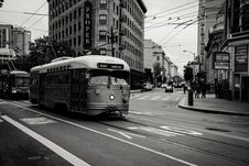 Free Grayscale Photography Of Tram Near Buildings Royalty Free Stock Photo - 117767945