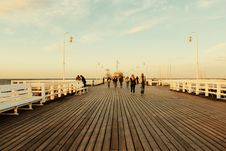 Free People Walking On Board Walk Stock Images - 117768034