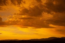 Free Sunset Under Cloudy Sky Stock Image - 117768051
