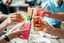 Free Group Of People Doing Cheers Stock Photo - 117768060