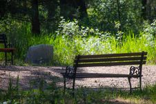 Free Photo Of Wooden Bench On Park Royalty Free Stock Photography - 117768067