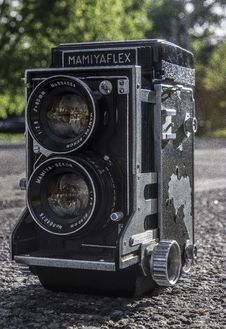 Free Black Mamiyaflex Vintage Camera Stock Photography - 117768082