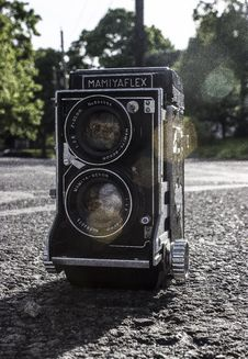 Free Shallow Focus Of Black Road Camera Stock Images - 117768084