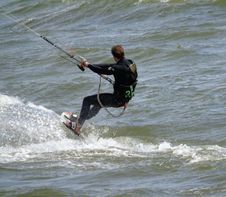 Free Kitesurfing, Water, Windsports, Surface Water Sports Royalty Free Stock Photography - 117788677