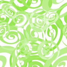 Free Seamless Green Spiral Pattern Royalty Free Stock Photos - 11781848