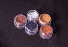 Free Close-Up Photo Of Glitters On Round Containers Stock Image - 117852831
