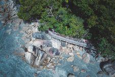 Free Bird S-eye View Of Rocky Seashore Stock Image - 117852911