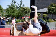 Free Man Riding On Bull Royalty Free Stock Image - 117852966
