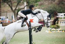 Free Woman Wearing Black Long-sleeved Blazer On White Horse Royalty Free Stock Photos - 117853008
