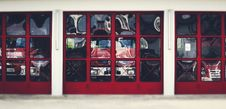 Free Red, Shelving, Window, Door Stock Images - 117884804